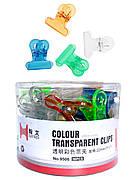 Зажим - прищепка для создания арки ногтя, пластиковый 22мм. (36 шт./уп)