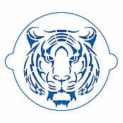 Тигр трафарет для торта 14 см (TR-4)