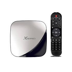 TV приставка Rockchip X88 Pro RK3318, 2GB RAM, 16GB ROM, чорна зі сріблом