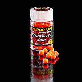 Поп Ап CarpZone Pop-Ups Method & Feeder Strawberry Jam (Полуничний джем) 8mm/90pc