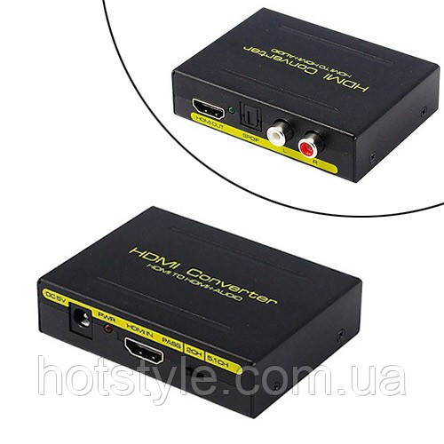 Экстрактор аудио, преобразователь HDMI, SPDIF, Toslink, RCA, тюльпан, 103832
