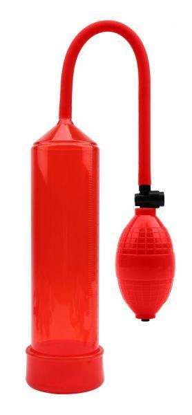 Вакуумная помпа MAX Version для увеличения размеров члена и усиления эрекции, Red, без вибрации