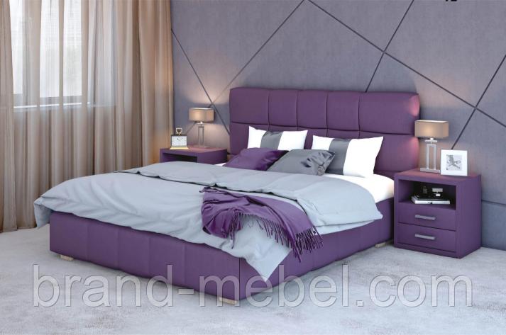 Кровать двуспальная в мягкой обивке Престиж