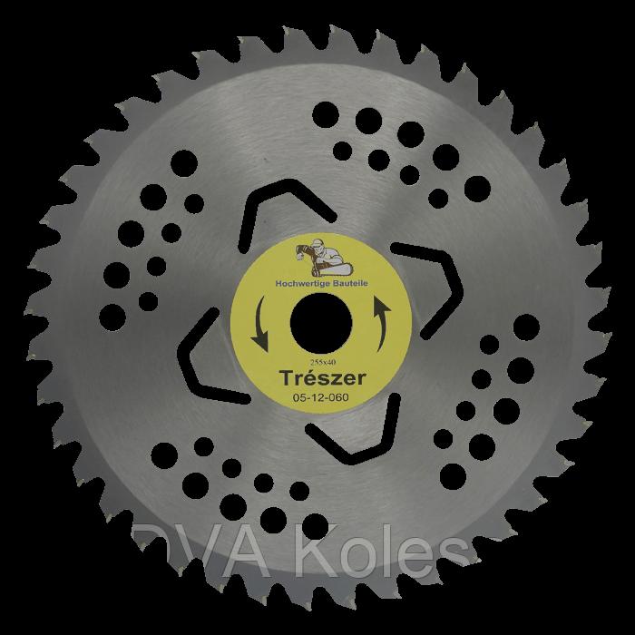 Ніж 40Т переможе 255мм з 4 підрізними Treszer