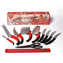 Набор кухонных ножей Contour Pro Knives Контур про с магнитной рейкой 11 предметов