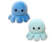 М'яка іграшка Восьминіг Перевертиш Mood Octopus Original blue, 16 см (W100327)