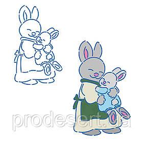 Трафарет Кролики 1 11*6.7 см (TR-1)