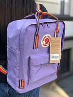 Рюкзаки kanken fjallraven оригінал сумка канкен Веселка портфель ранець Rainbow з райдужними ручками