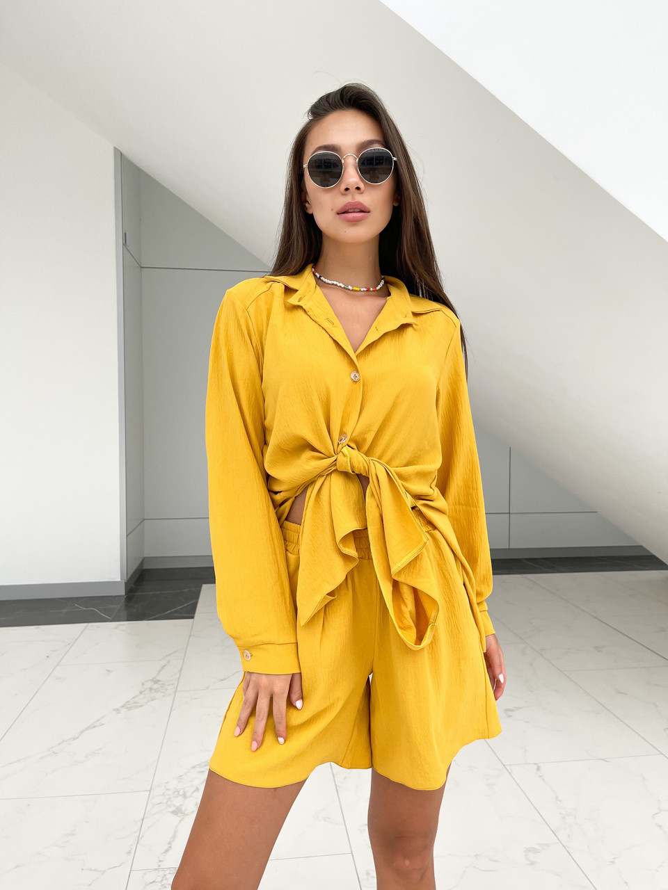 Літній жіночий костюм сорочка і шорти