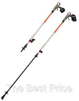 Палиці для ходьби і гірського трекінгу CRIVIT FX-Carbon для скандинавськой ходьби (карбонові) Orange
