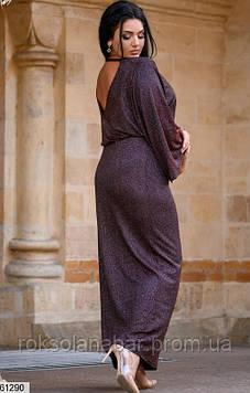 Люрексова жіноча сукня червоного кольору з блискітками