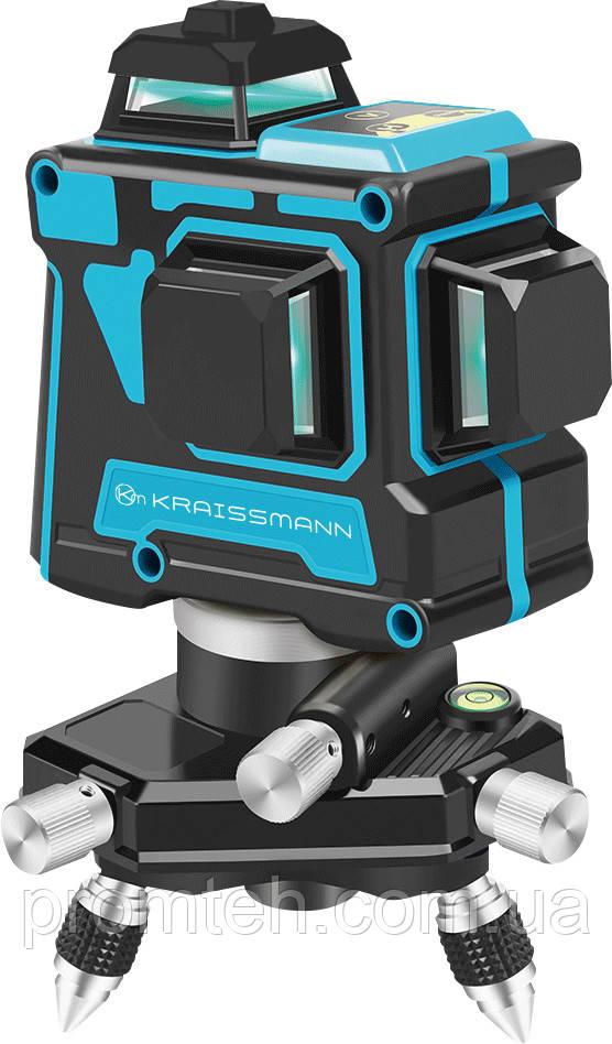 3D линейный лазерный нивелир (лазерный уровень) KRAISSMANN 12 3D-LL 25
