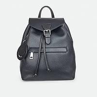 Рюкзак женский из натуральной кожи городской черный 81096