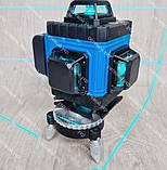 4D Лазерный уровень нивелир KRAISSMANN 16 4D-LLA 30 RB синий луч, фото 2