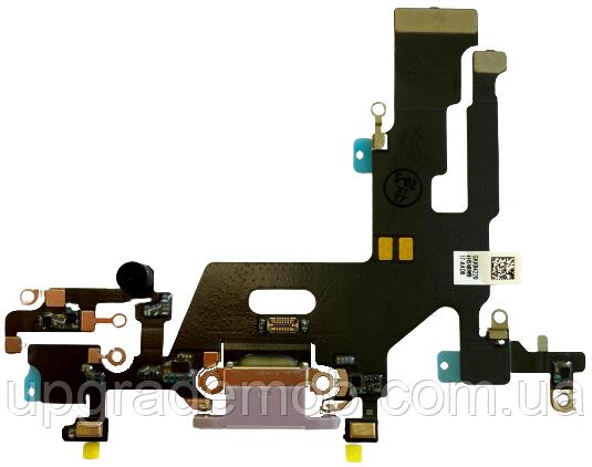 Шлейф iPhone 11 з роз'ємом зарядки з мікрофоном фіолетовий оригінал