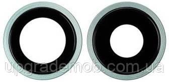 Стекло камеры iPhone 11 зеленое + кольцо комплект 2 шт.
