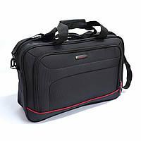 Чоловіча ділова сумка для ноутбука Mv-bags чорного кольору, фото 1