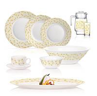 Сервіз столовий Luminarc Golden Shell 46 предметів склокераміка (Q5452)