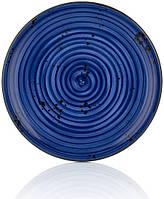 Тарелка By Bone Harmony (Enigma) синяя d27 см фарфор (HA-EN-ZT-27-DZ)