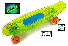 "Penny ""Fish Skateboard Original"" Green Музыкальная и светящаяся дека"