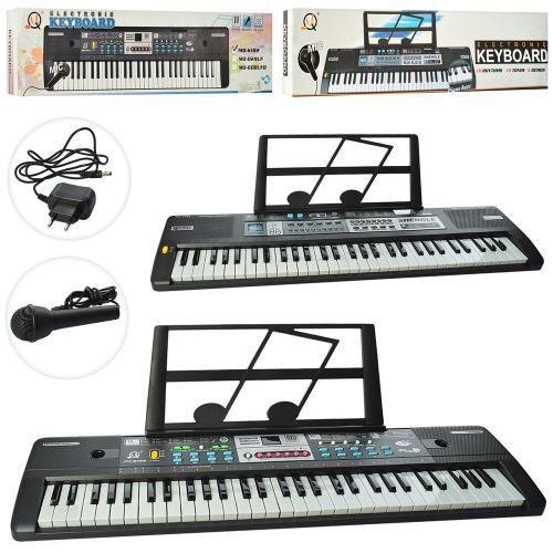 Синтезатор MQ6180-82 61клав, микрофон, запись, демо, 16тонов,2вида,от сети,в кор-ке,78-20-7см