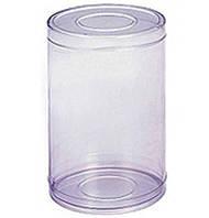 Тубус прозрачный, пластиковый 12х6см