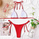 Жіночий роздільний купальник оливка, фото 7