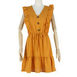 Романтичне жіноче плаття горничного кольору з гудзиками, фото 4