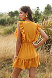 Романтичне жіноче плаття горничного кольору з гудзиками, фото 5