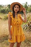 Романтичне жіноче плаття горничного кольору з гудзиками, фото 6