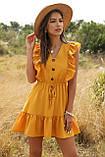 Романтичне жіноче плаття горничного кольору з гудзиками, фото 7