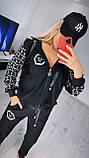 Жіночий чорний трикотажний костюм (Туреччина); Розміри:2хл,3хл,4хл,5хл повномірні, фото 3