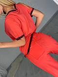 Жіночий річний трикотажний костюм (Туреччина);Розмір:50,52,54,56, фото 3