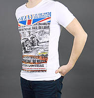 Белая футболка молодежная с рисунком