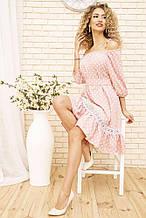 Сарафан 102R178 колір Рожевий