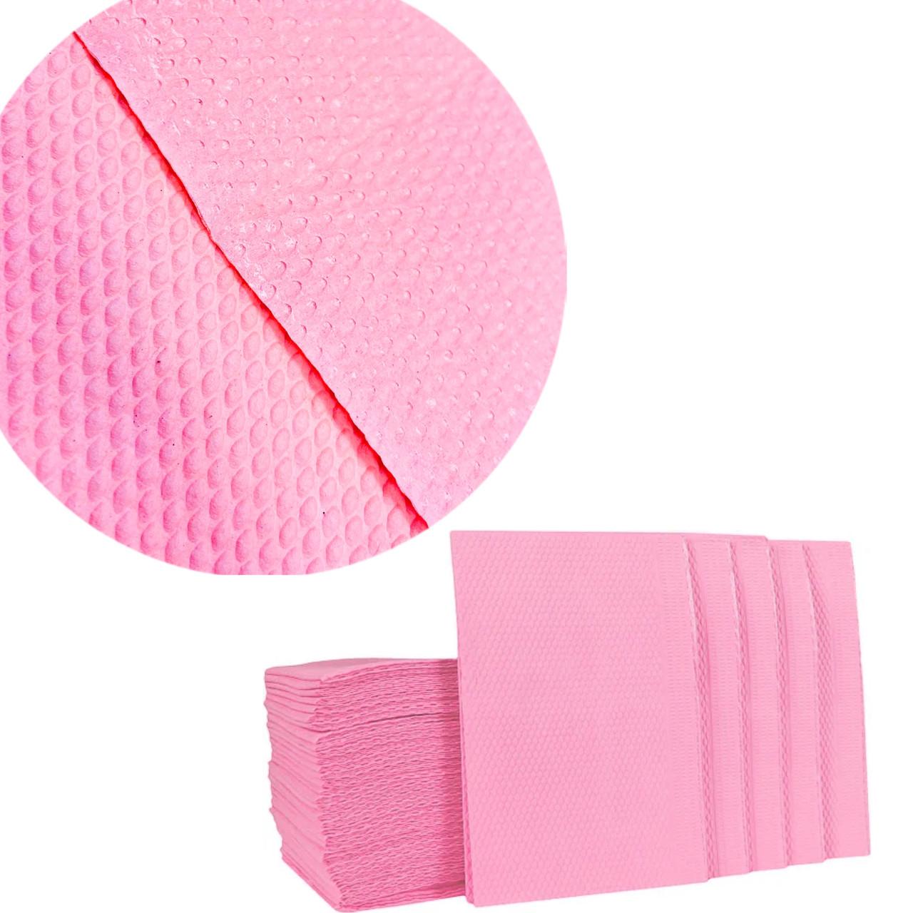 Нагрудники (500шт/пак) рожеві