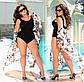 """Жіночий цільний купальник у великих розмірах 259 """"Боді"""" в кольорах, фото 3"""
