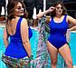 """Жіночий цільний купальник у великих розмірах 259 """"Боді"""" в кольорах, фото 2"""