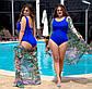 """Жіночий цільний купальник у великих розмірах 259 """"Боді"""" в кольорах, фото 6"""
