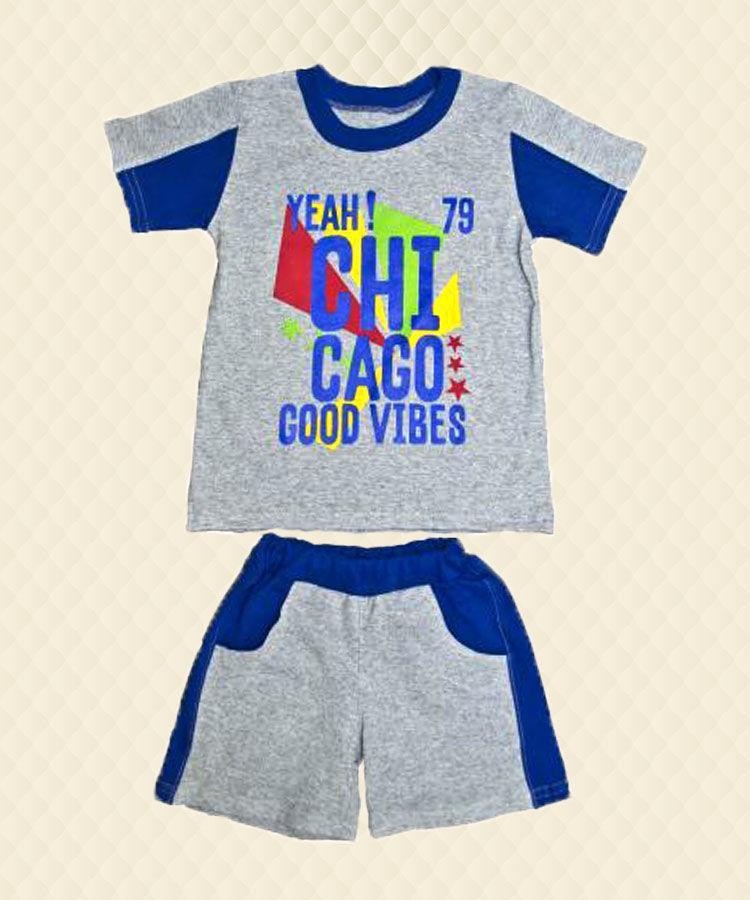 Комплект для хлопчика: футболка + шорти накат кулір