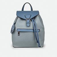 Рюкзак женский из натуральной кожи городской голубой 81096
