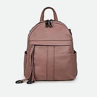 Модный сумка-рюкзак женский кожаный розовый 801-247