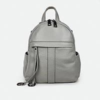 Удобный сумка-рюкзак женский кожаный серый 801-247
