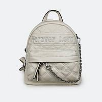Удобный сумка-рюкзак женский кожаный молочный 5336
