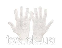 Перчатки трикотажные MASTERTOOL УНИВЕРСАЛ 70% хлопок/30% полиэстер 10 класс 2 нити 32 гр белые 83-0305