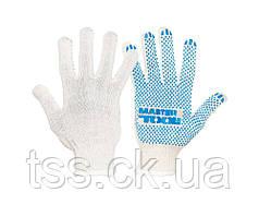 Перчатки трикотажные MASTERTOOL STANDART с ПВХ-точками 70% хлопок/30% полиэстер 10 класс 2 нити 40 гр