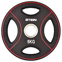 Диск поліуретановий чорний Stein 5 кг
