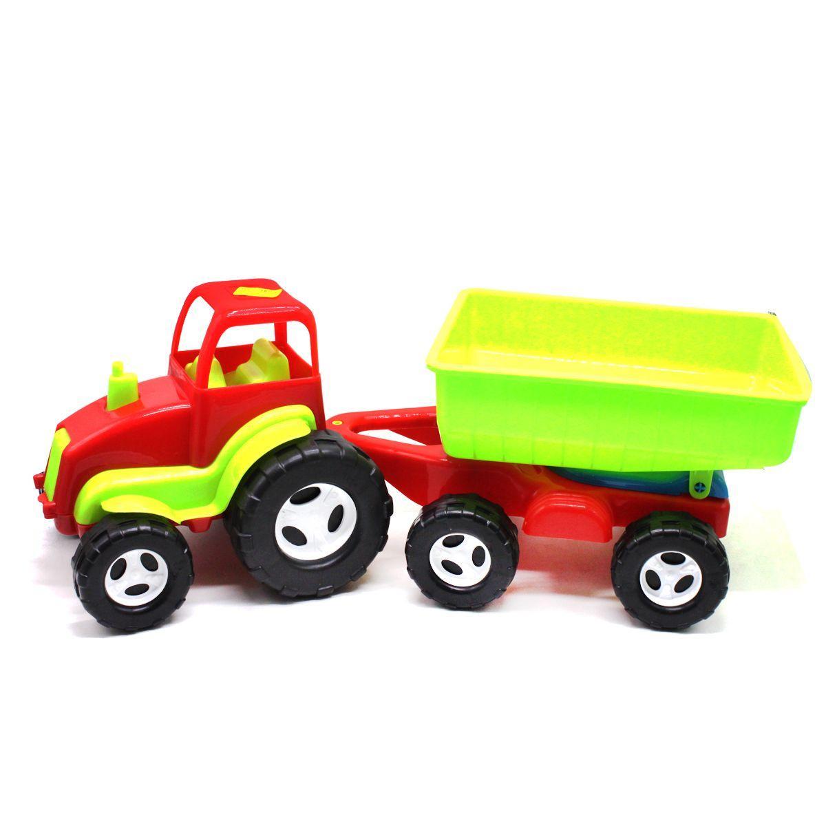 Трактор с прицепом (красный) KW-07-709