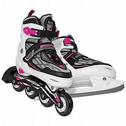 Роликові ковзани SportVida 4 в 1 SV-LG0062 Size 35-38 Black/White/Pink