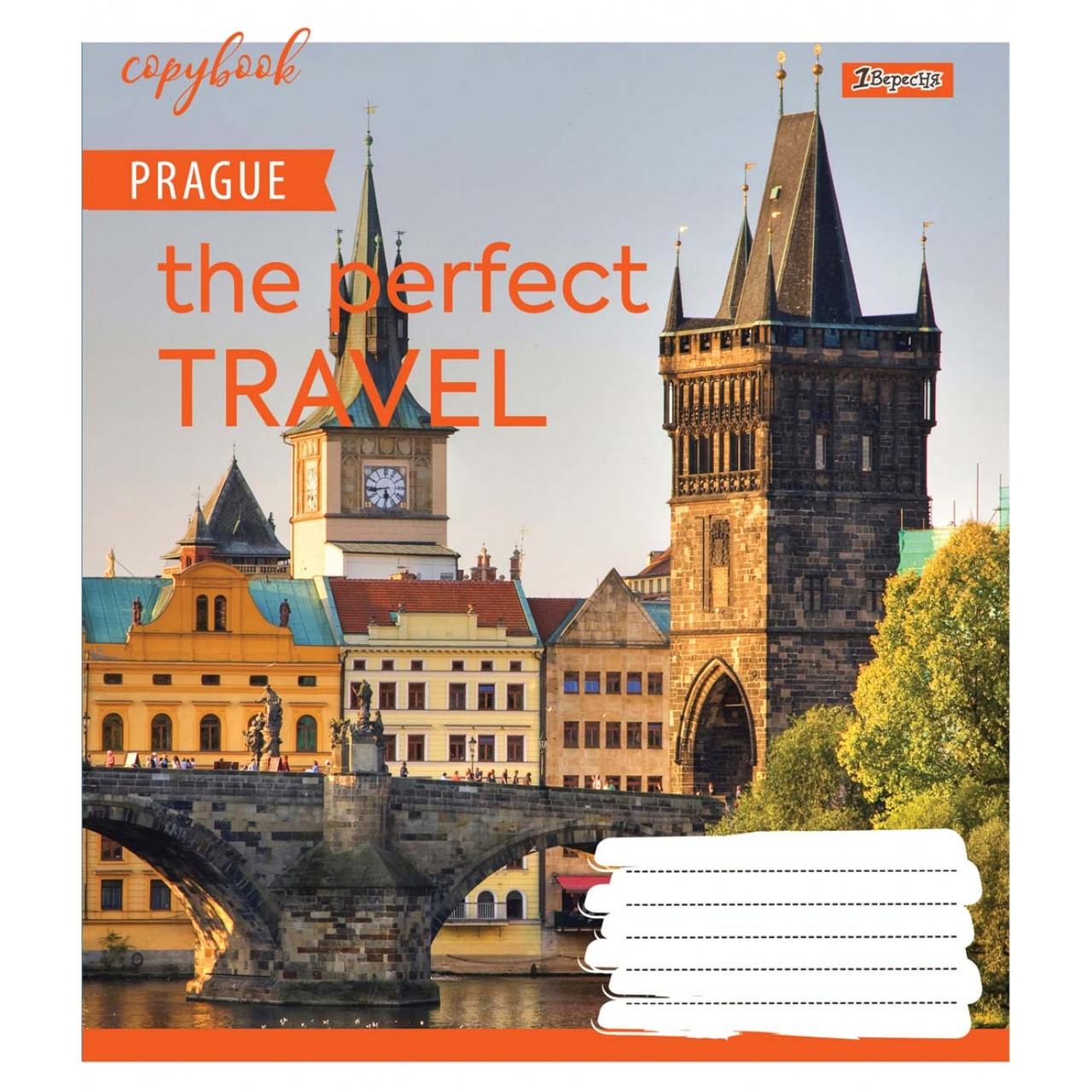 Набор тетрадей 5 штук 1 Вересня Perfect travel,A5 в клетку 48 листов 764941